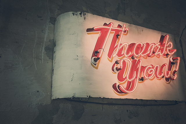 Thank You || creative commons photo by Ryan McGuire